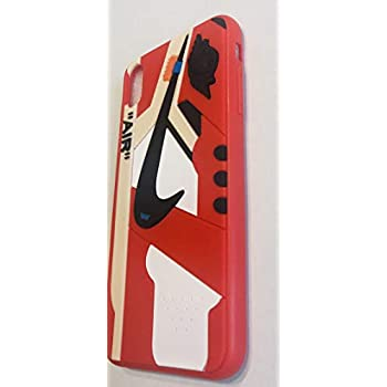 Iphone Shoe Case Of Chicago White 1 S Official 3d Print Textured Shock Absorbing Protective Sneaker Fashion Case Cover Red Iphone Xs Max