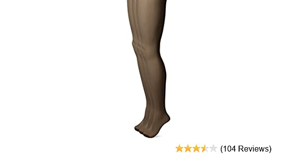 7a4bc1312 No Nonsense Women s Ultra Sheer Regular Pantyhose with Reinforced Toe  3-Pack at Amazon Women s Clothing store