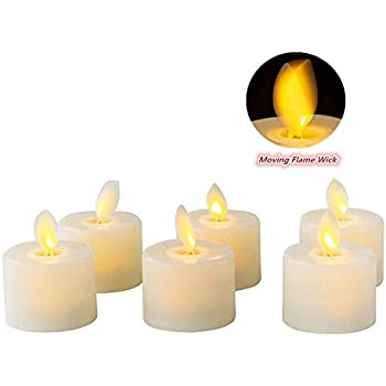 3e596b5cac Flameless LED Tea Light Candles Realistic Dancing LED Flames Electric Fake  Candles Flickering Battery Operated Candles LED Votive Candles Unscented ...
