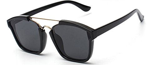 [GAMT Fashion Sunglasses Colored Frame Mirrored Lens Black] (Prescription Novelty Contact Lenses)