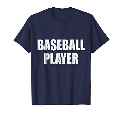 Baseball Player Shirt Halloween Costume Funny Distressed