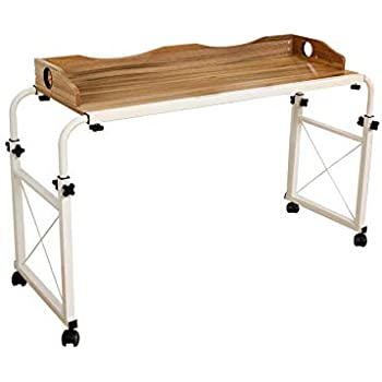 Amazon Com Dline Overbed Table Laptop Cart Laptop Table