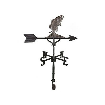 Montague Metal Products 32-Inch Weathervane with Swedish Iron Bass Ornament
