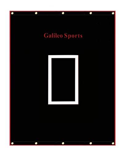 Galileo Vinyl Backstop Baseball/Softball Tarpaulin Backstop Batting cage Target with Bungees 6x8