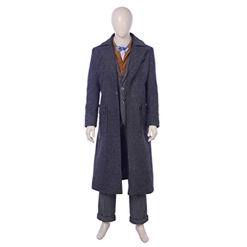 CosplayJet Men's Cosplay Costume for Fantastic Beasts and Where to Find Them 2 Movie Newt Deluxe Full Body Set Halloween Costume (Maze Runner Costume)