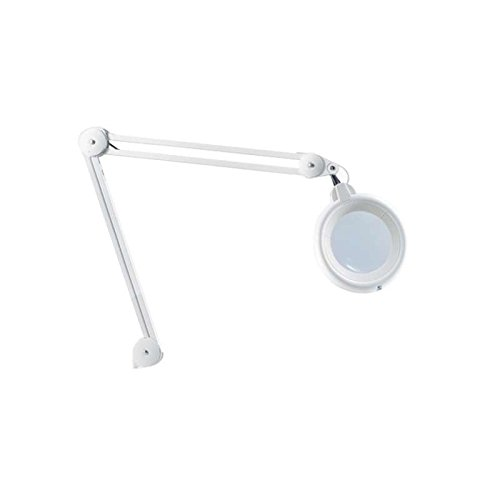 Slimline LED Magnifying Lamp with Desk Clamp and Additional Lens, 38