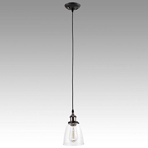 YOBO Lighting Vintage Industrial Edison Glass Ceiling