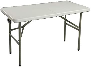 Haobase 4' Folding Table Portable Plastic Indoor Outdoor Picnic Party Dining Camp Tables
