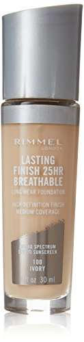 Rimmel Lasting Finish Breathable Foundation, Ivory, 1 Fluid Ounce