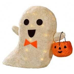 "15"" Lit Halloween Sisal Ghost"