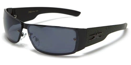 X Loop Mens / Womens / Unisex Athletic Sport Designer Fashion Sunglasses with UV400 Lens - Available in Black / Silver - Includes Custom Branded Microfiber Pouch & Cleaning - Oakleys Fake Custom