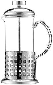 Cafeteira/Cremeira Prensa francesa De Vidro e Aço Inox 350ML (Prata - Variação: 2)