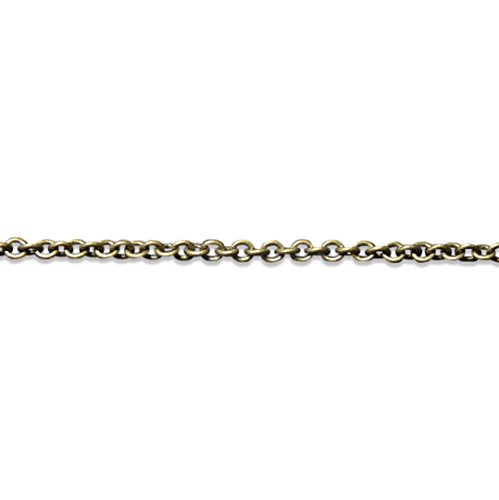 Burnished Bronze Replacement Necklace Chain 2.3 mm Diameter 18