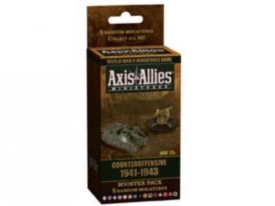 Axis & Allies Miniatures Counteroffensive 1941-1943 Booster Pack 5 Random Miniatures (World War Ii Miniatures Game) Axis & Allies Miniatures