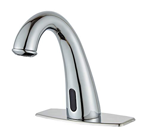 HHOOMMEE Electronic Automatic Sensor Touchless Bathroom Sink Faucet - Touchless Bathroom Faucet Chrome