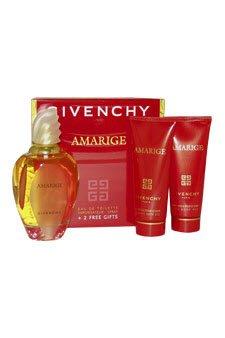Givenchy Amarige Gift Set for Women Eau De Toilette Spray, Silk Body Veil, Delicate Bath Gel