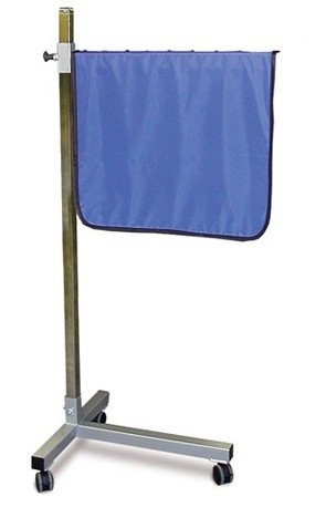 X-Ray Shield - Deluxe Mobile Solid Barrier, T-Base by Colortrieve