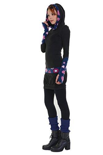 Cappuccio Lady Donna Casual Streetwear Con Gotico Pink Pile Abito 3elfen Abiti tTvqaWx1n