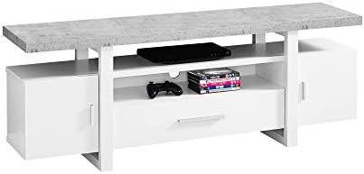Monarch Specialties I Tv Stand, 60 L, White