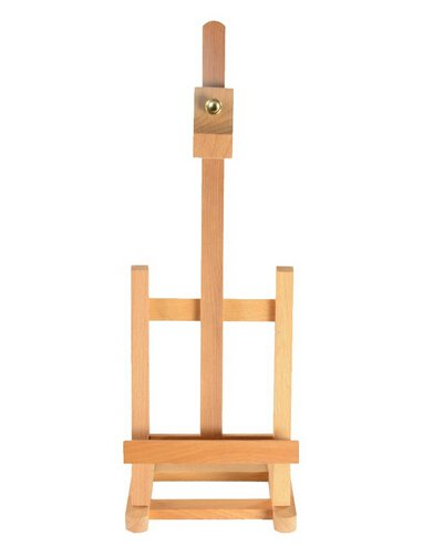 FixtureDisplays Wood Easel for Countertop Use with Height Adjustable Header Clamp - Natural 19460 19460-NF ()