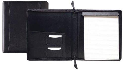 Raika RM 143 BLK Standard Zipper Writing Pad - Black by Raika