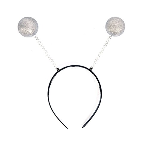 NNasell Crazy Martian Antenna Headband Boppers - Funny Party Accessory Costume addon (Silver)]()
