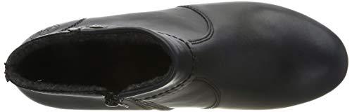 Rieker Damen Stiefeletten M8081, Frauen Ankle Boots, Stiefel halbstiefel Bootie knöchelhoch reißverschluss Damen Frauen,Navy / 14,37 EU / 4 UK 5