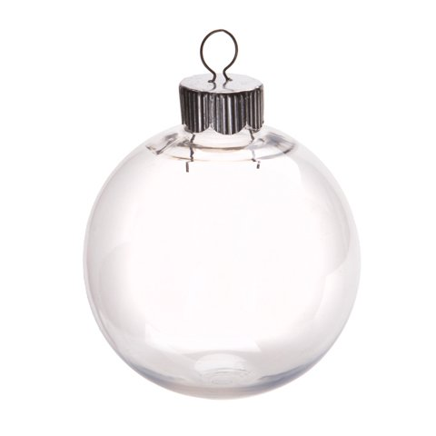 Clear Plastic Round Ball Ornaments - The Look of Glass Ornaments!