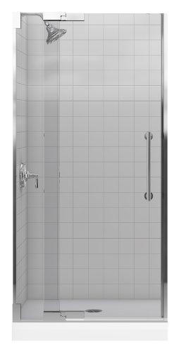 Kohler K-705701-L-SHP Purist Heavy Glass Pivot Shower Door, 33-1/4