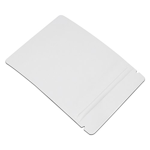 8x12cm (3.1''x4.7'') White Matte Aluminum Foil Grocery Bulk Food Storage Pack Reclosable Mylar Zip Lock Pouch Heat Commercial Bag Sealers Nut Coffee Tea Wrap Smell Proof with Tear Notches 1500 Pcs by BAT Pack (Image #3)