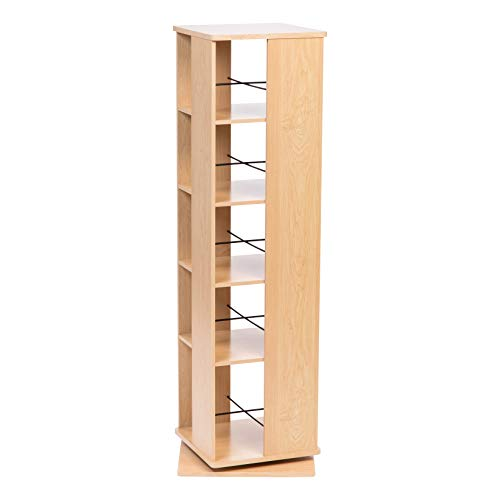 IRIS USA, Inc. RBS-5S 5 Tier Revolving Bookshelf, Light Brown