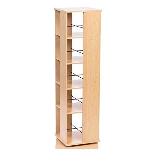 IRIS USA, Inc. RBS-5S 5 Tier Revolving Bookshelf, Light ()