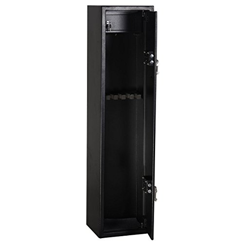 Goplus® 2 Key 6 Gun Rifle Storage Cabinet Case Safe Rack Pistol Wall Shotgun Security