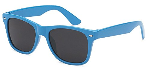 Kids Childrens 80's Classic Retro Wayfarer Sunglasses - Sunglasses Blue Retro