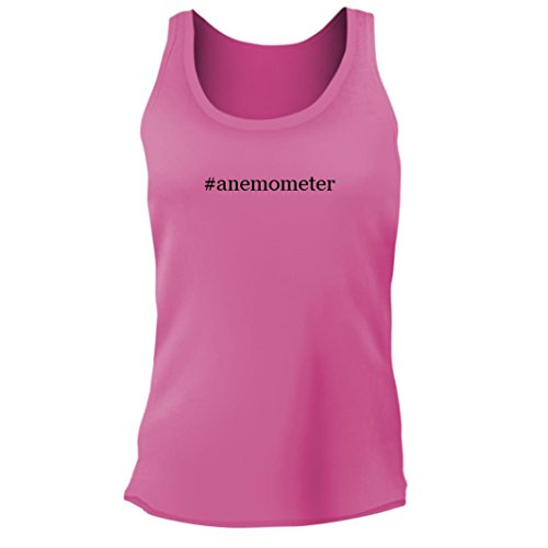 Tracy Gifts #Anemometer - Women's Junior Cut Hashtag Adult Tank Top, Pink, X-Large Deluxe Wireless Weather Station