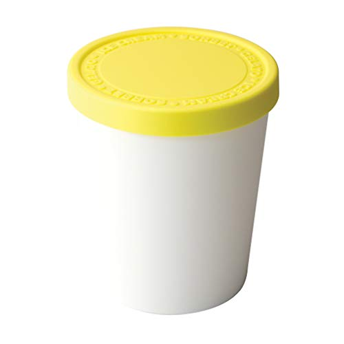 Tovolo Tight-Fitting, Stack-Friendly, Sweet Treat Ice Cream Tub - Lemon (Shaped Cream Ice Container)