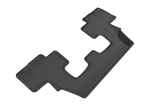 (3D MAXpider Third Row Custom Fit All-Weather Floor Mat for Select Audi Q7 Models - Kagu Rubber (Black))