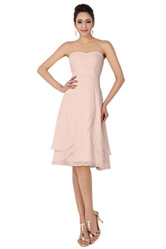 da damigella donna Pink al Sweetheart lunghezza colonna abiti Sunvary d'onore da ginocchio 1aqCw7n4
