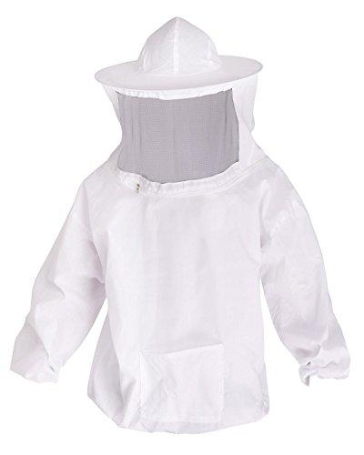 iiniim Professional Beekeeping Jacket Bee Protecting Suit with Fencing Veil Goatskin Leather Gloves (Protecting Suit)