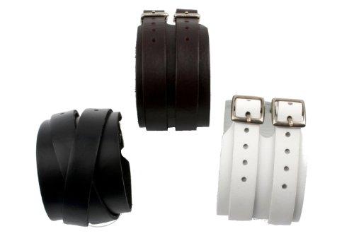 cored Lederarmband wrap braun 4,5cm-schwarz