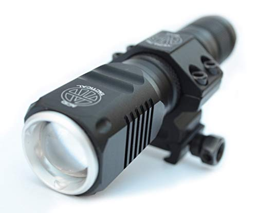 (AcidTactical CREE T6 LED 800 Lumen Flashlight with Picatinny Rifle/Shotgun Mount, Battery, Charger)