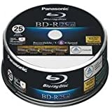 1x25 Panasonic LM-BRS2MWE25 Blu-Ray 6x Speed, 25GB printable