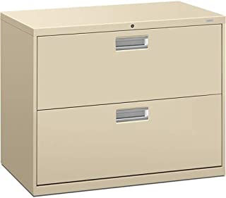 """product image for HON 600 Series Standard Lateral Files w/Locks-2 Drawer Lateral File W/Lock, 36""""x19-1/4""""x28-3/8"""", Putty"""