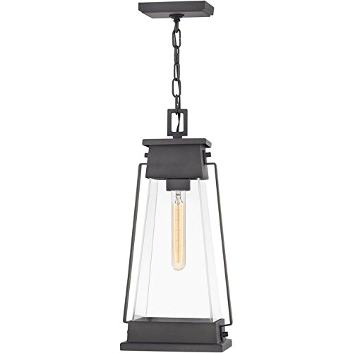 Hinkley 1138AC Arcadia - One Light Outdoor Hanging Lantern, Aged Copper Bronze Finish with Clear Seedy Glass ()