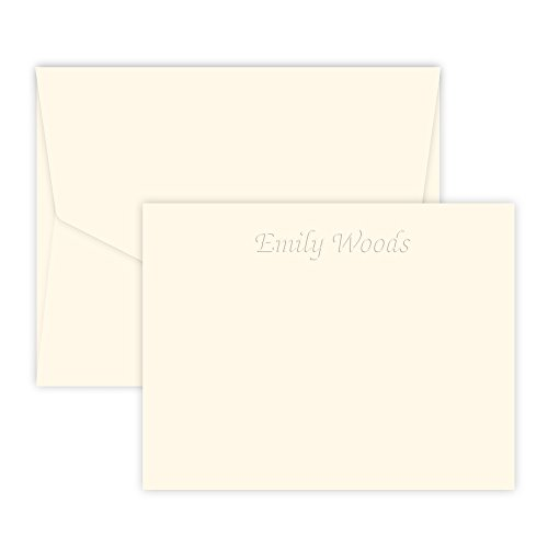 Personalized Embossed Stationary - Personalized Mayfair Embossed Correspondence Card (Ivory)