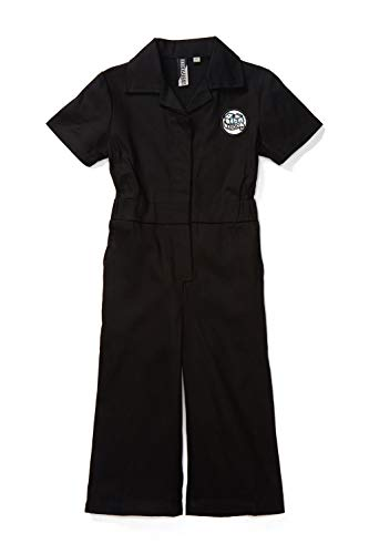 Born to Love Knuckleheads - Infant and Baby Boy Grease Monkey Coveralls (5T, Girl Black) ()