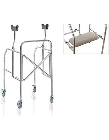 andador axilas para personas mayores Plegable de acero lacado – moretti Mod. rp756s – Asiento