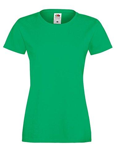 Fruit Of The Loom SS705 algodón y Sofspun con funda suave entallado normal de la de mujer T-camiseta de manga corta para Kelly