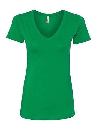 Next Level Women's Lightweight The Ideal V-Neck T-Shirt, XX-Large, (Green Womens V-neck T-shirt)