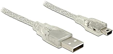 DeLOCK Cable Easy USB 2.0/Type A Male to USB Type Mini B Male 5/m White